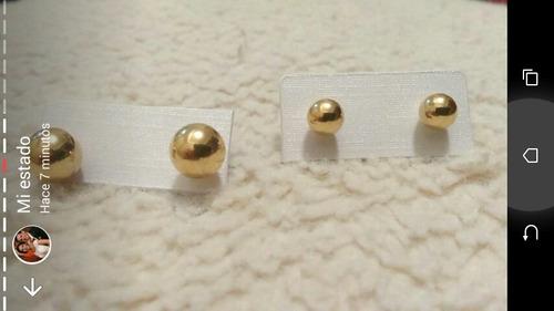 zarcillos en oro laminado importados