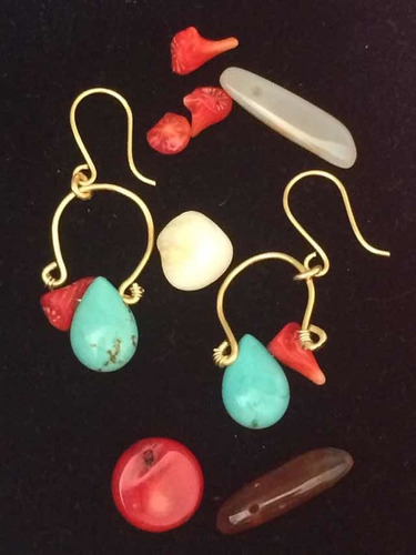 zarcillos en pvc con piedras preciosas! día de las madres!