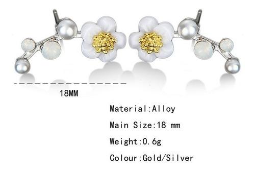 zarcillos flores moda floral fiesta diseño mujer fashion