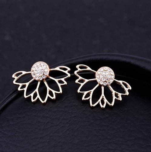 zarcillos flores moda floral fiesta diseño mujer fashion mid