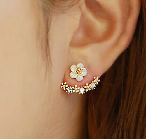 zarcillos flores moda floral fiesta diseño mujer trendy 490g