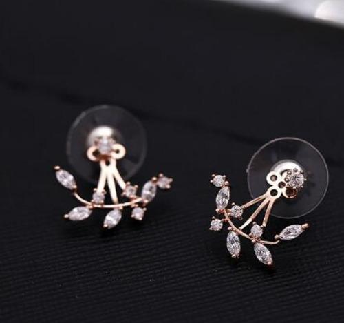 zarcillos hojas angel fashion mujer choker ala ear cuff moda