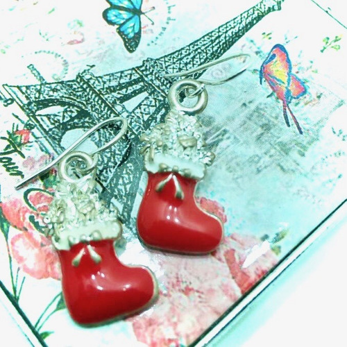 zarcillos navidad ear cuff fiesta mujer angel regalo paz