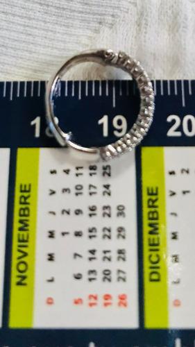 zarcillos oro blanco 750 -18k cierre huggie 3,59 gr /ver ref