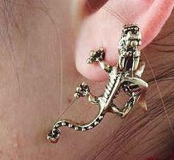 zarcillos solitario ear cuff dragones mitologicos accesorios