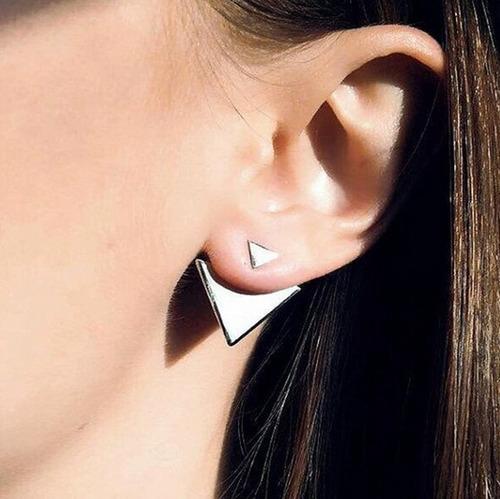 zarcillos triángulo mujer moda fashion ear cuff choker look