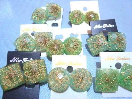 zarcillos verdes