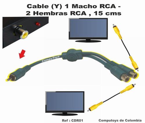 zcdr01 cable (y) macho rca 2hembras rca qcdr01q compu-toys