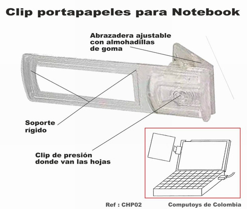 zchp02 brazo portapapeles para notebook computoys