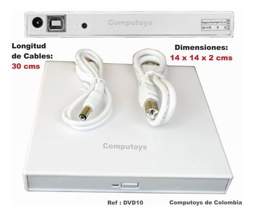 zdvd10 unidad externa para leer dvd x usb qdvd10q compu-toys