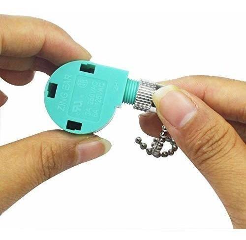 Ceiling Fan Switch ZE-268S6 Zing Ear 3 Speed 4 Wire Pull Chain ...