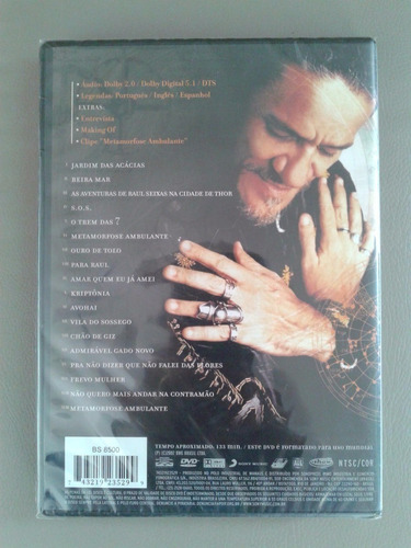 zé ramalho canta raul seixas dvd original lacrado