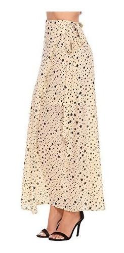 zeagoo star impresion falda de la gasa wrap corbata largo de