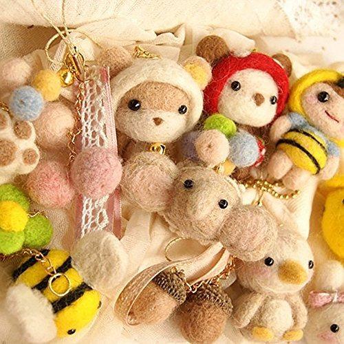 zealor 45 colores aguja fieltro lana lana fibra hilado de la