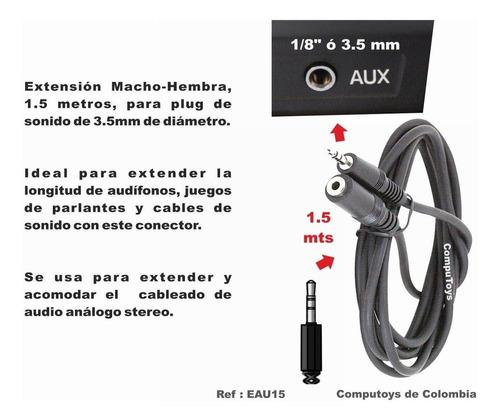 zeau15 prolongue longitud aparatos 3.5 mm stereo computoys