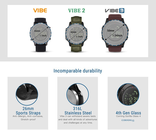 zeblaze bt4.0 sports inteligente relógio 5atm água - prova i