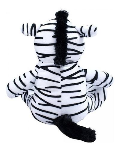 zebra de pelúcia 28cm sentada