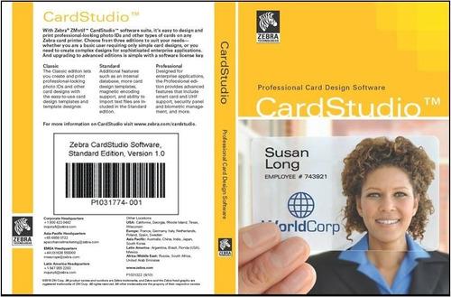 zebra software para impresora de credenciales pvc standard m