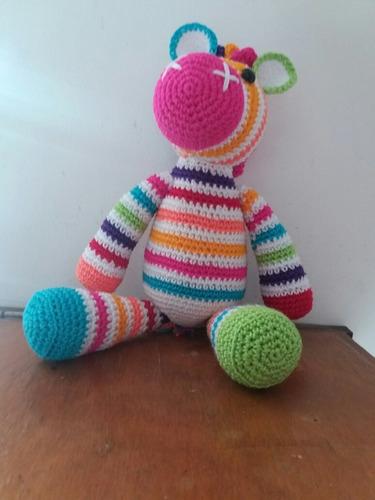 zebra y coneja amigurumis crochet