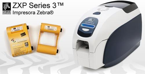 zebra zxp series 3 impresora credenciales pvc (imp. un lado)