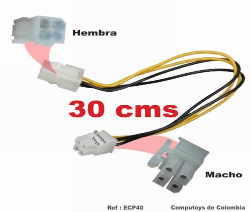 zecp40 alargue 20cm de 4 pines para fuente atx computoys