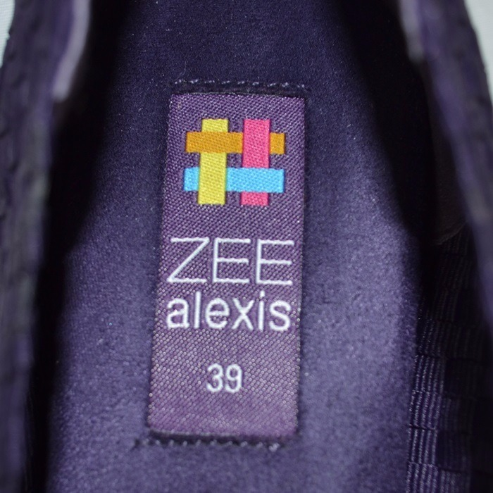 Zee Alexis Zapatos Morados Tejidos 4.5 Mex Msrp  1 77d25d5719dff