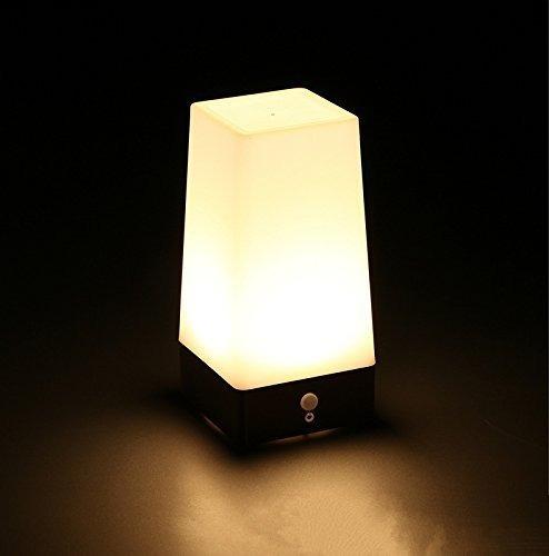 zeefo sensor de movimiento inalámbrico noche de luz led 3 m