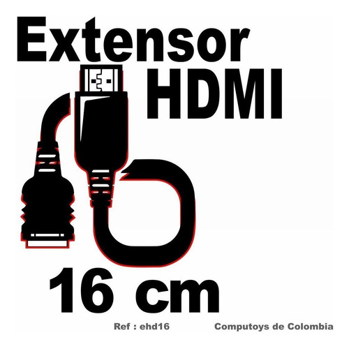 zehd16 extensor hdmi m-h 16 cms qehd16q compu-toys