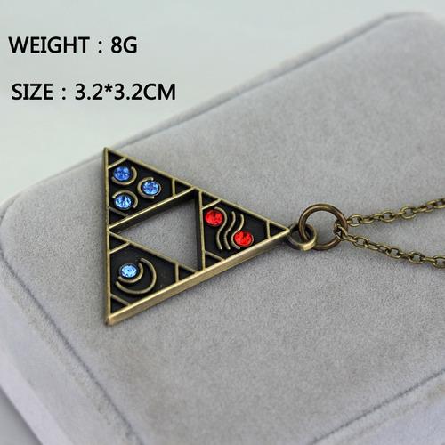 zelda collar importado link triangulo trifuerza fantasia
