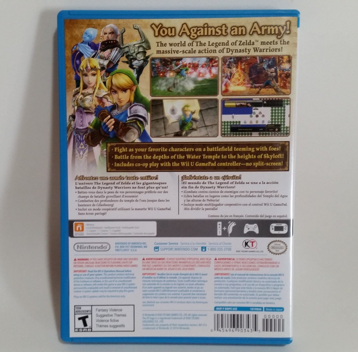 Zelda Hyrule Warriors (usado) - Nintendo Wii U Mídia Física