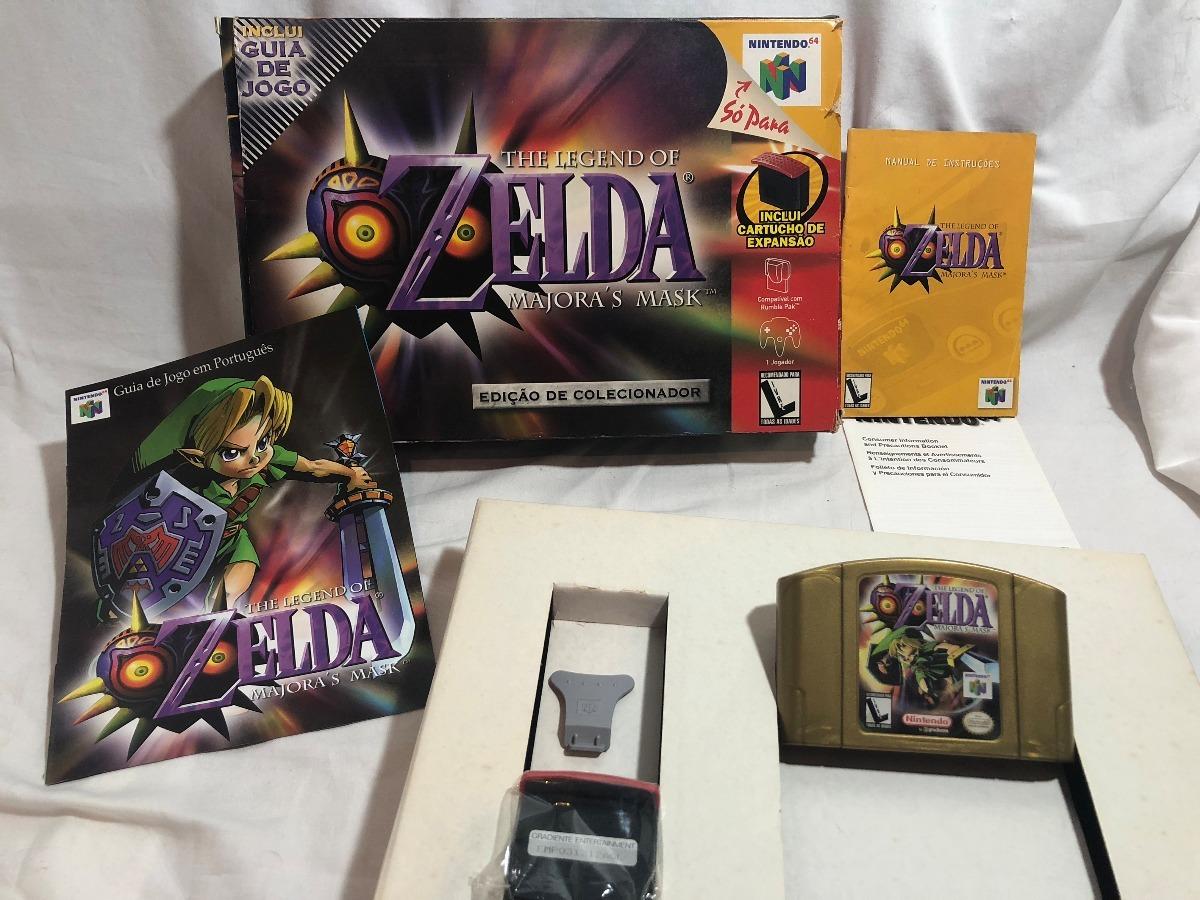 Zelda Majoras Mask Big Box P/ N64! C/ Expansion Pak