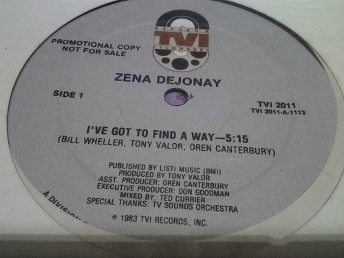 zena dejonay i've got to find a way vinilo maxi dificil caño