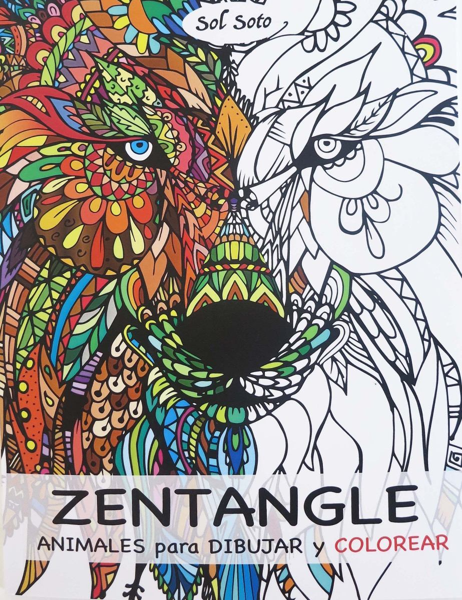 Zentangle Libro Para Dibujar Y Colorear Animales - $ 250,00 en ...