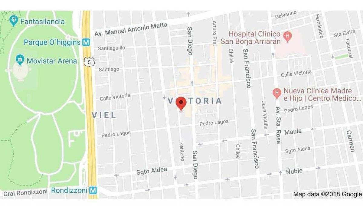 zenteno / calle victoria, santiago.