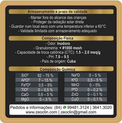 zeolita premium 3x100g - suplemento 100% natural