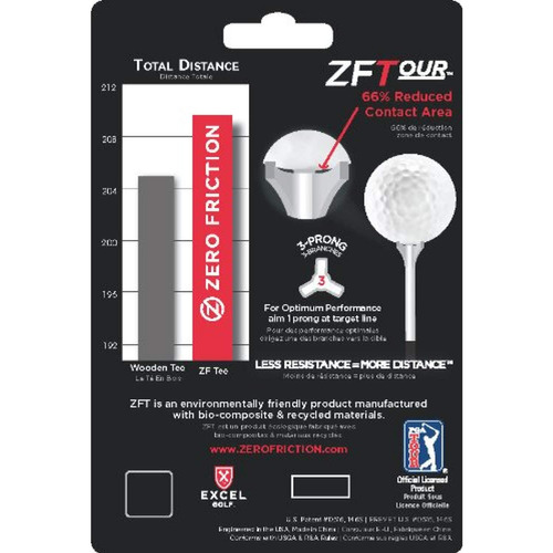 zero friction zftour golf tees 40 count red 2 3 4 in