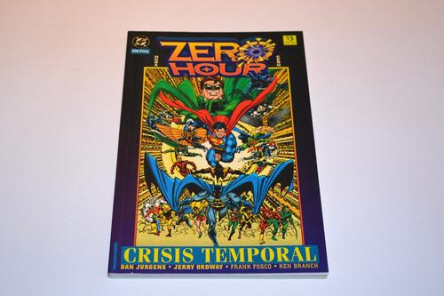 zero hour  crisis temporal  dc comics