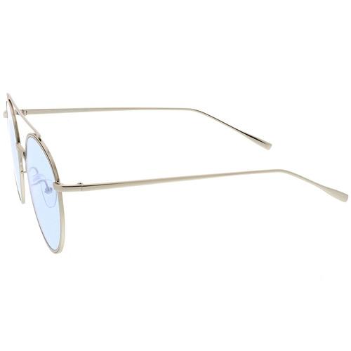 8536c4b68a Zerouv - Modernos Redondas De Metal Gafas De Aviador Con Las ...