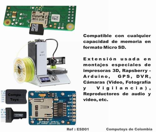 zesd01 prolongue alcance de tarjetas micro-sd tf computoys
