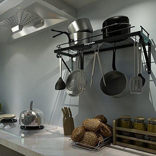 8f7264ecf09 Zesproka Kitchen Wall Pot Pan Rack