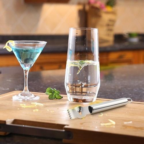 zester pelador rallador de cítricos para barman coctelería