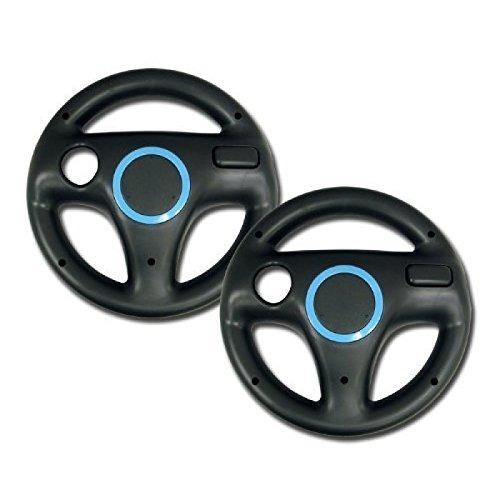 zettaguard mario kart racing wheel para nintendo wii 2 sets