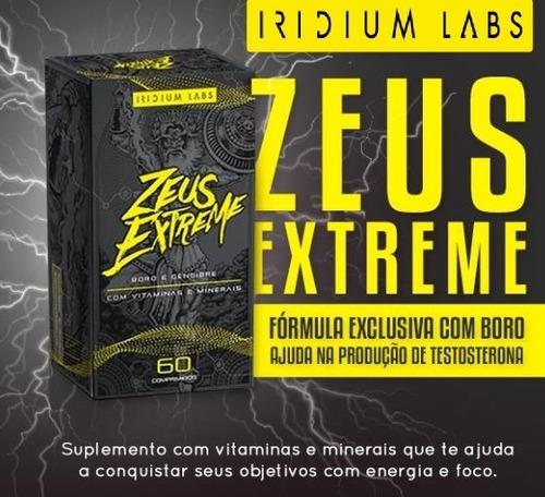 zeus extreme 60 caps ganho de massa magra iridium labs