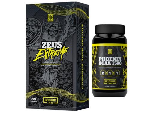 zeus extreme 60 cáps iridium + bcaa 90 comprimido iridium