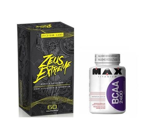 zeus extreme 60 comprimidos - iridium + bcaa 100 cáps max