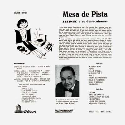 zézinho e os copacabanas - mesa de pista - lp- mofb3007-1957
