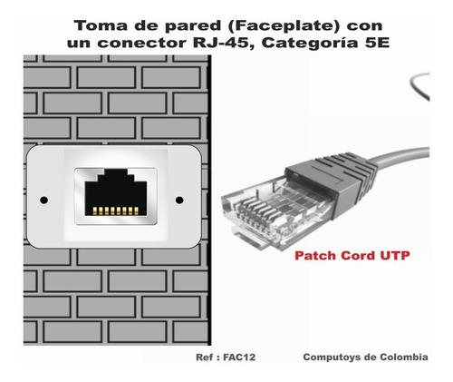 zfac12 toma pared con puerto rj45 cat 5e qfac12q compu-toys