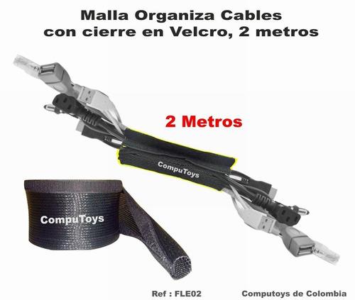 zfle02 cubra cables en orden 2 m, malla velcro computoys