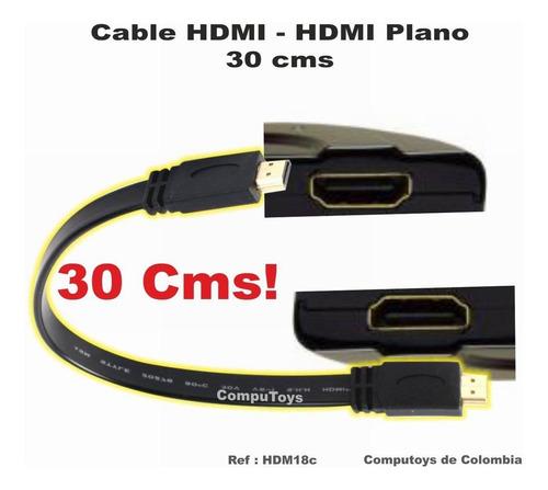zhdm18c cable hdmi corto y plano 30 cm computoys