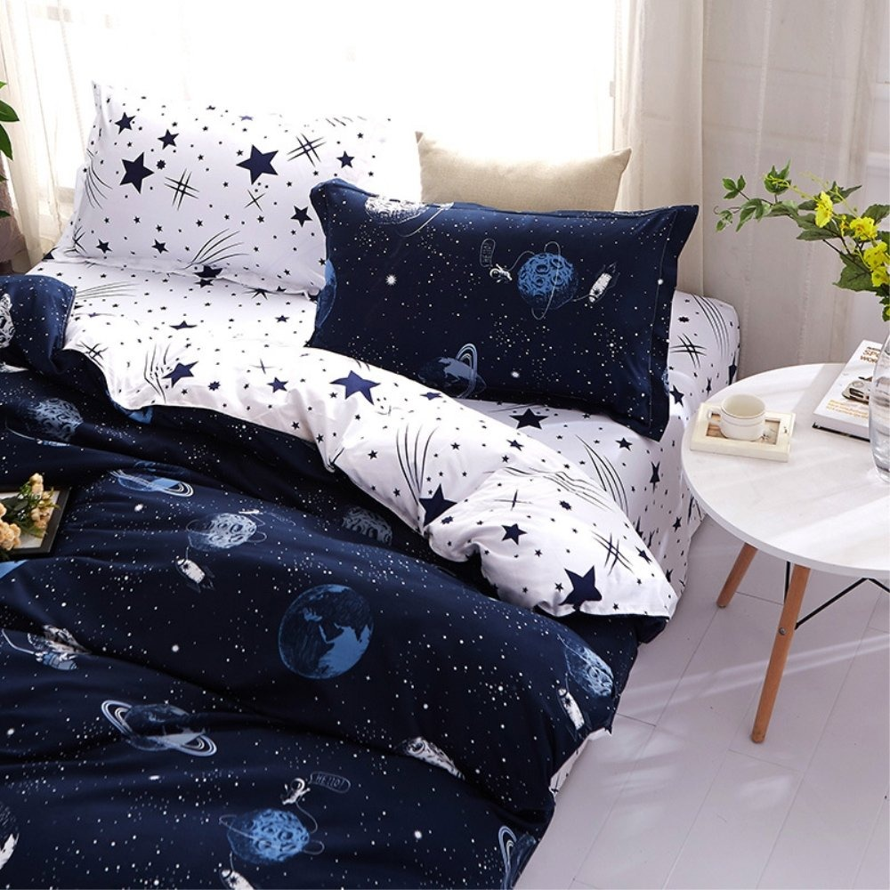 Funda Nordica Espacio.Zhh Espacio Celestial Galaxy Juego De Funda Nordica Juego D